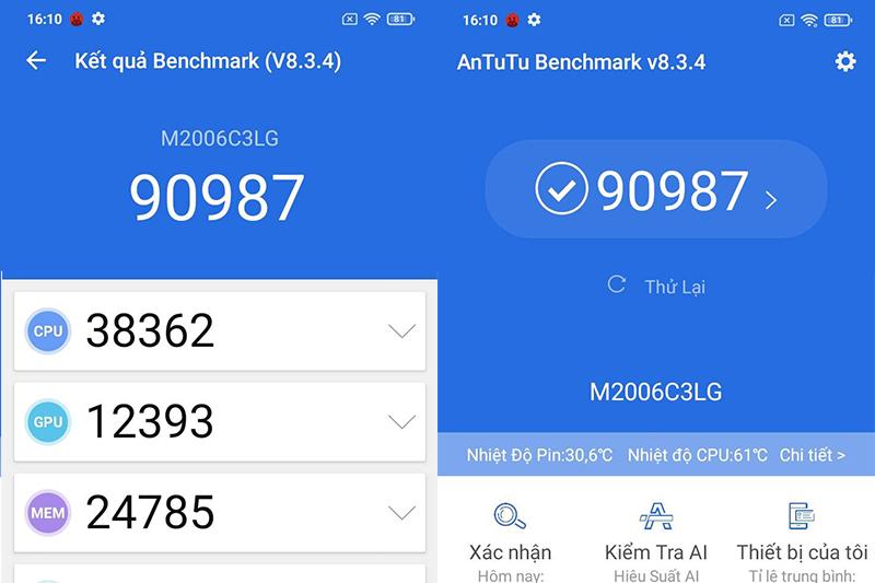 Điện thoại Xiaomi Redmi 9A hiệu năng đủ dùng