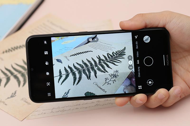 Giao diện chụp ảnh của điện thoại Nokia 5.3
