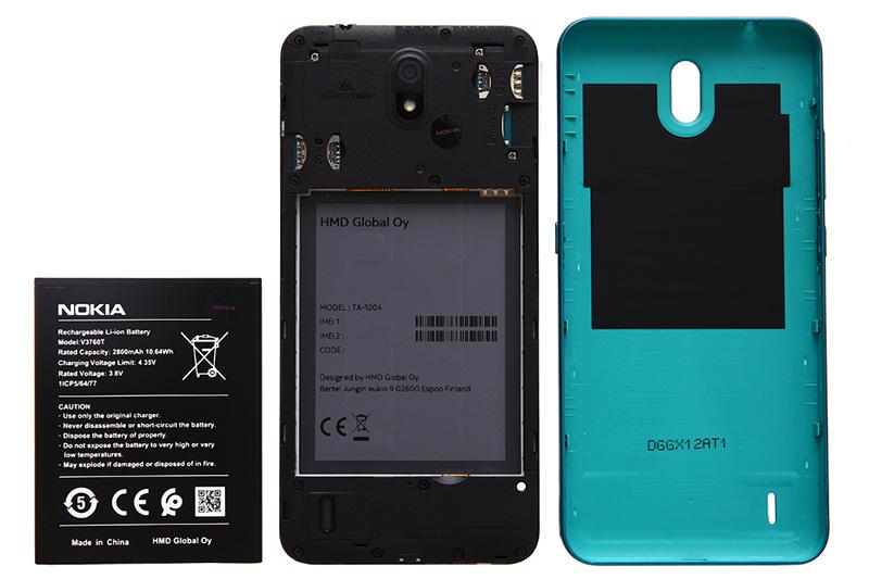 Thiết kế pin rời của điện thoại Nokia C2