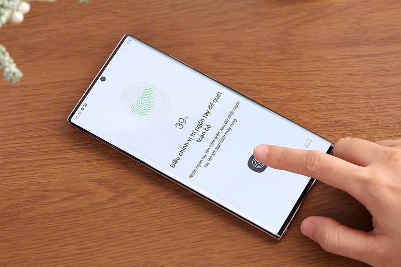 Thiết lập mật khẩu vân tay trên máy - Samsung Galaxy Note 20 Ultra