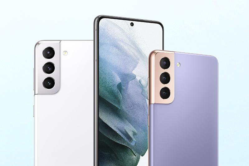 Samsung Galaxy S21 5G | Với 3 màu sắc chính là: Tím, trắng và xám