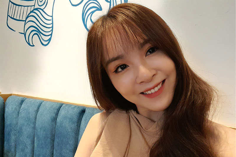 Camera selfie 13 MP tích hợp tính năng xóa phông, làm đẹp - Samsung Galaxy A21s 3GB/32GB