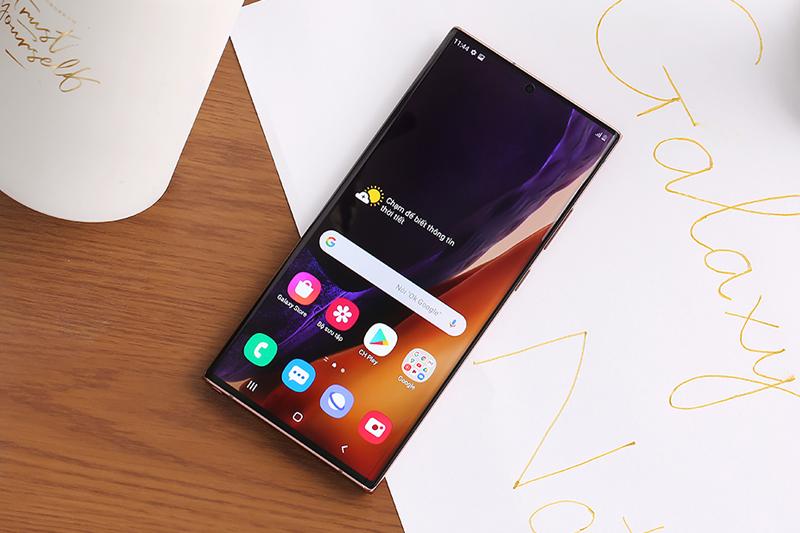 Màn hình hiển thị siêu rõ nét của điện thoại Samsung Galaxy Note 20 Ultra 5G