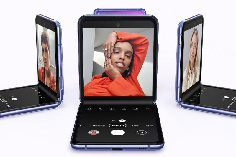Thiết kế màn hình infinity O thời thượng | Samsung Galaxy Z Flip 5G