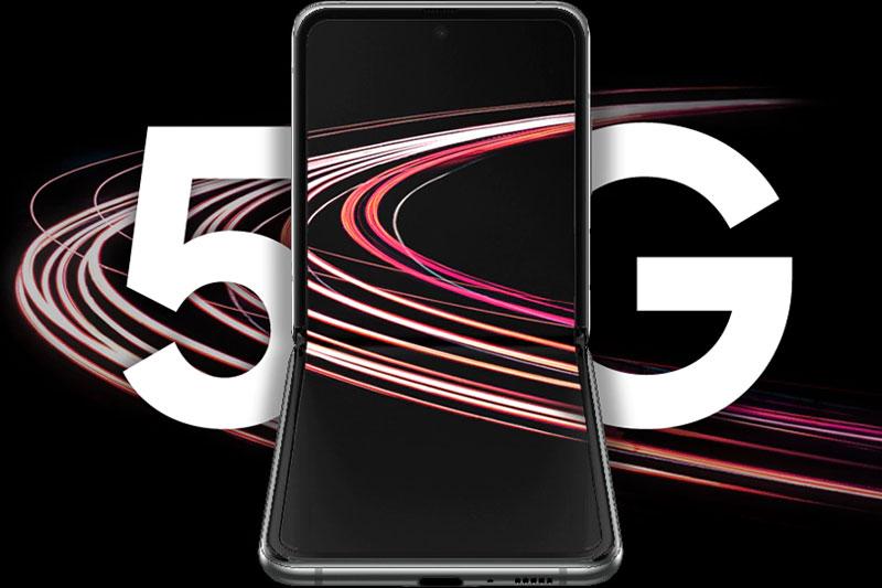 Hỗ trợ công nghệ 5G, nhanh hơn,mạnh hơn | Samsung Galaxy Z Flip 5G