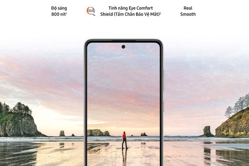 Samsung Galaxy A72 | Độ sáng tối đa lên đến 800 nits