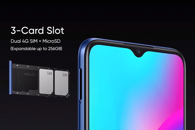 Realme C15 | Hỗ trợ khe cắm thẻ nhớ microSD