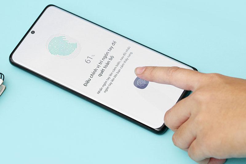 Cảm biến vân tay quang học trên Samsung Galaxy S21 Ultra 5G