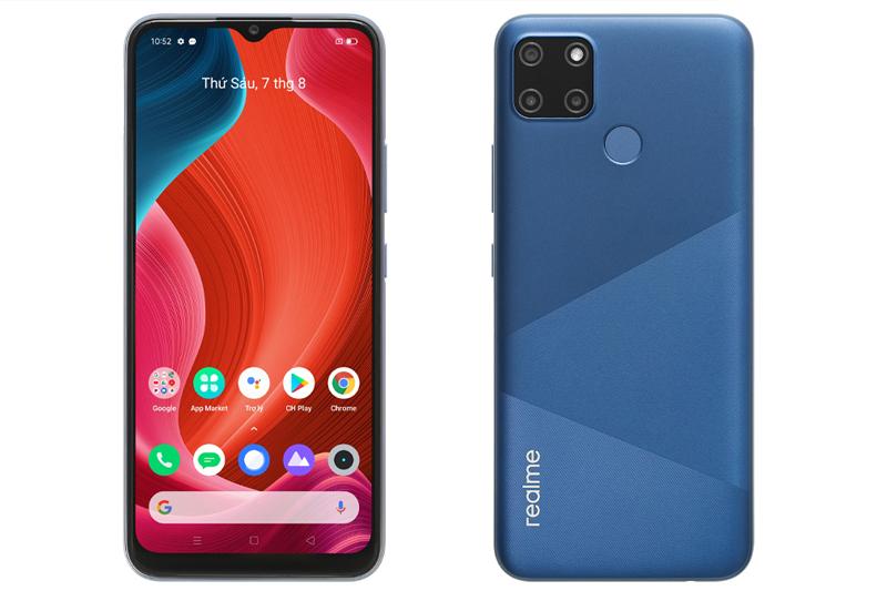 Điện thoại Realme C12 | Thiết kế quen thuộc của sản phẩm