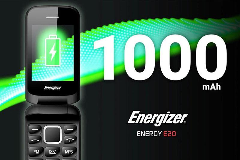 Viên pin 1000 mAh cho thời lượng sử dụng lâu dài - Energizer E20