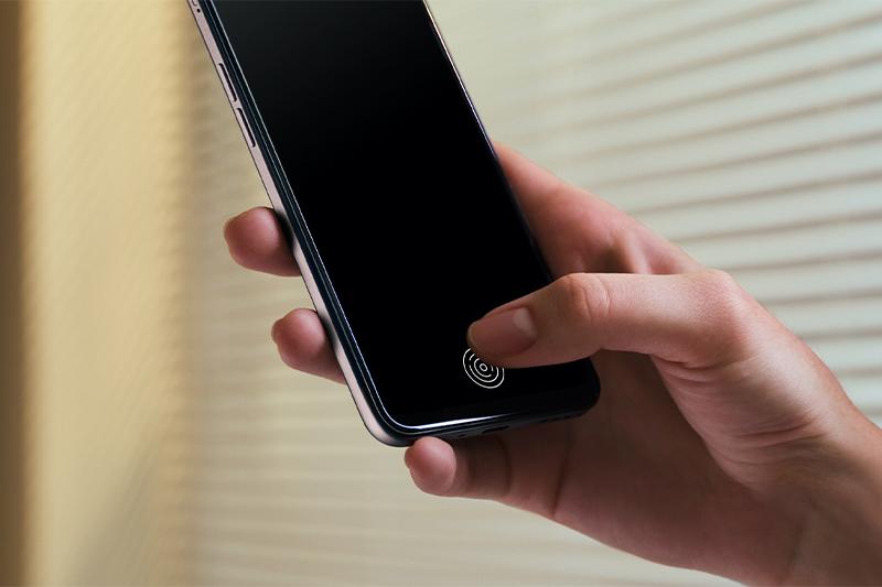 Cảm biến vân tay tích hợp dưới màn hình   OPPO A73