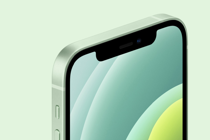 Phần notch chứa camera selfie | iPhone 12