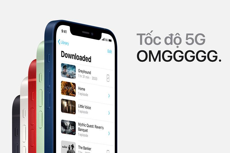 Hỗ trợ 5G cho tốc độ load cực nhanh | iPhone 12