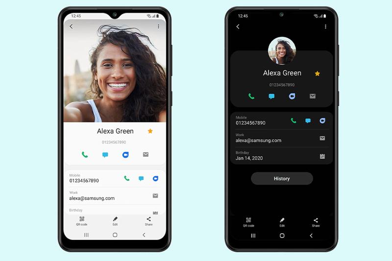 Samsung Galaxy A02 | Camera trước 5 MP hỗ trợ chụp ảnh selfie và gọi video call