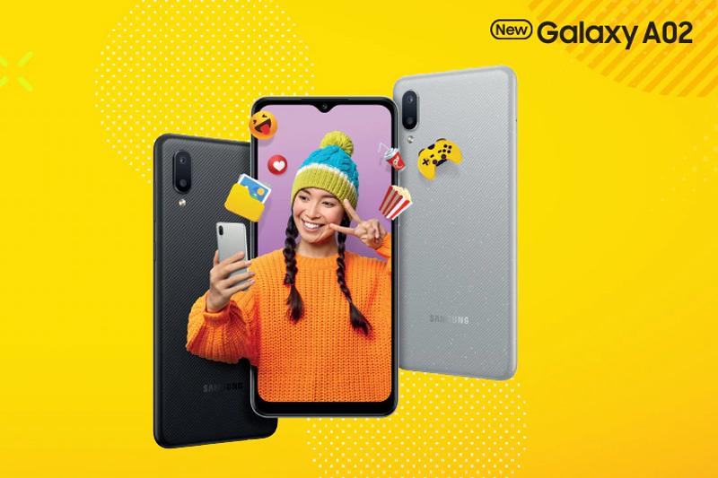 Samsung Galaxy A02 | Thiết kế gọn nhẹ với nhiều sắc màu thời trang