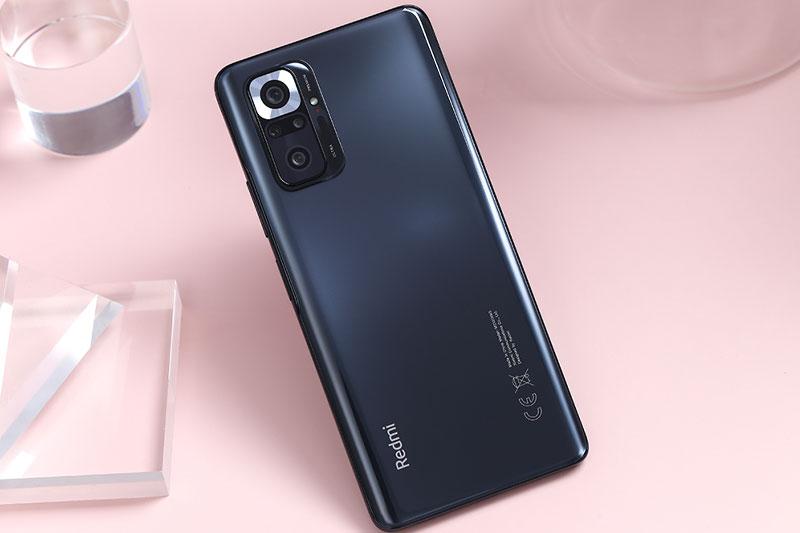 Xiaomi Redmi Note 10 Pro (8GB/128GB)   Thiết kế nguyên khối, trang bị mặt kính ở hai mặt