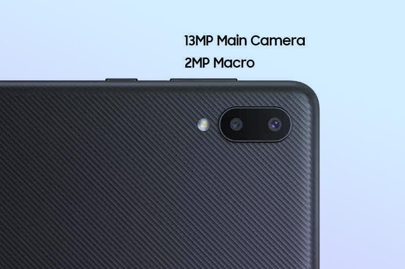 Samsung Galaxy M02 | Camera kép gồm camera chính 13 MP, camera phụ 2 MP