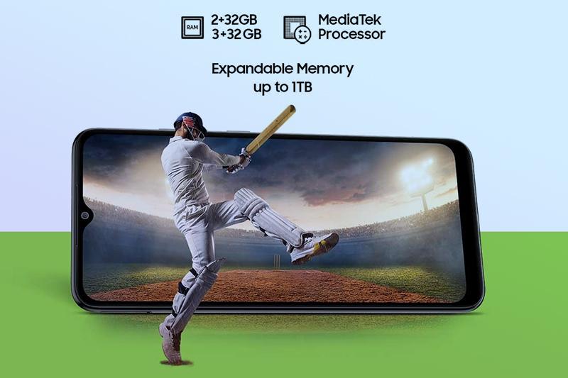 Samsung Galaxy M02 | RAM 3 GB và bộ nhớ trong 32 GB