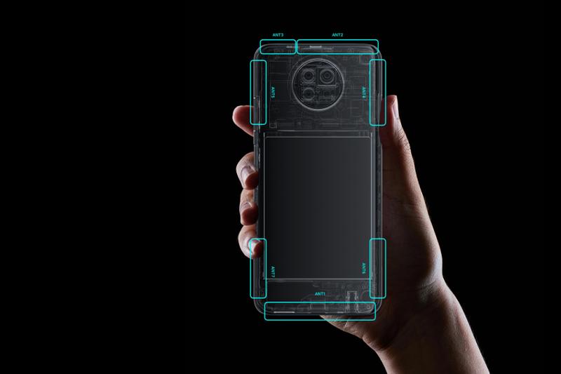 Xiaomi Redmi Note 9 5G | Máy trang bị dải ăng ten giúp thu sóng tốt hơn