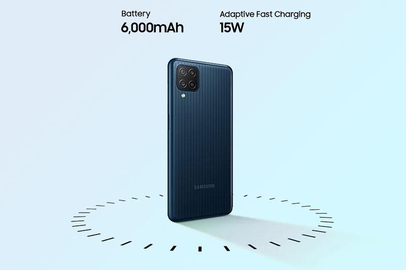 Samsung Galaxy M12 | Tích hợp viên pin 6000 mAh