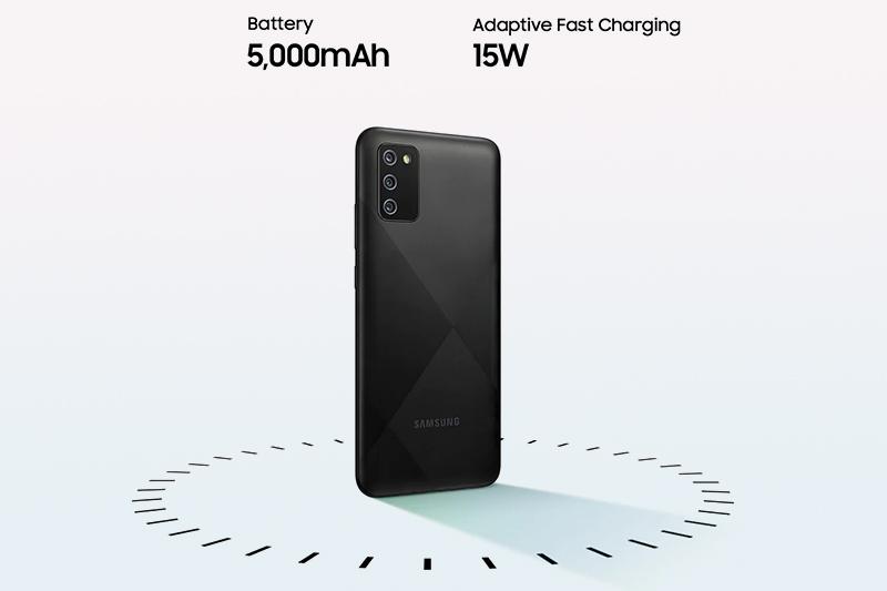 Samsung Galaxy A02s (4GB/64GB) | Pin dung lượng lớn 5000 mAh