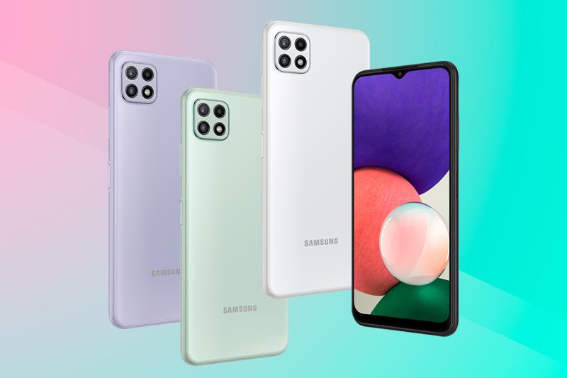 Có 4 màu sắc để lựa chọn - Samsung Galaxy A22 5G