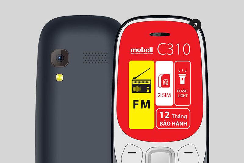 Mobell C310 | Hỗ trợ 2 sim, lưu đến 500 số liên lạc, ghi âm cuộc gọi