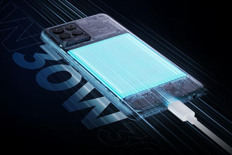 Realme 8 | Hổ trợ sạc pin nhanh lên đến 30 W