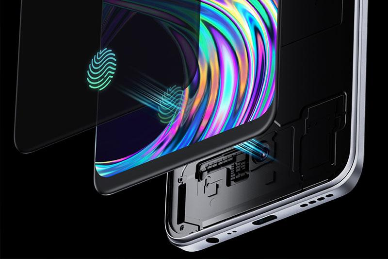 Realme 8 | Bảo mật vân tay quang học được cài đặt bên dưới màn hình