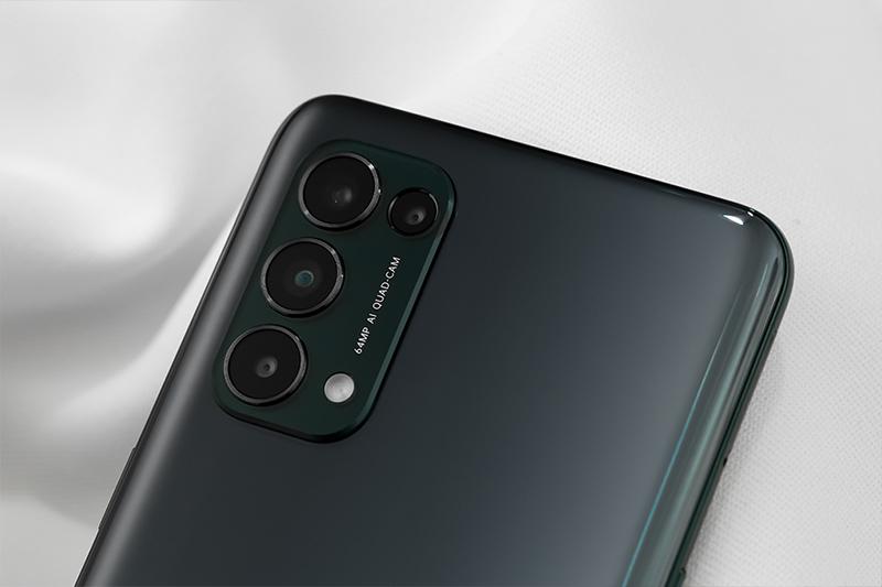 OPPO Reno5 5G | Cụm camera sau gồm 4 ống kính bắt mắt