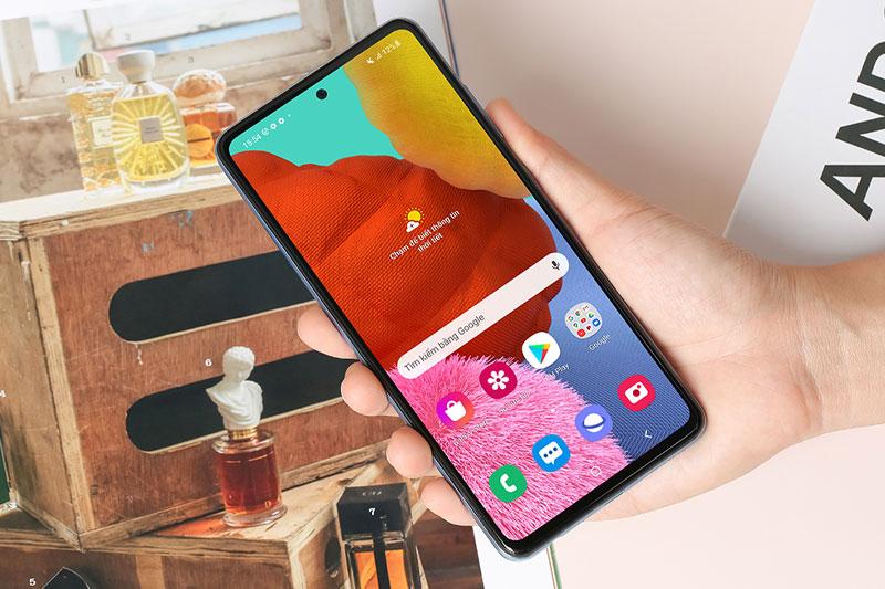 Điện thoại Samsung Galaxy A52 5G | Công nghệ màn hình Super AMOLED sắc nét