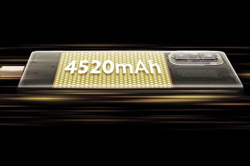 Xiaomi POCO F3   Pin lớn với dung lượng 4520 mAh đồng thời tích hợp sạc nhanh 33 W