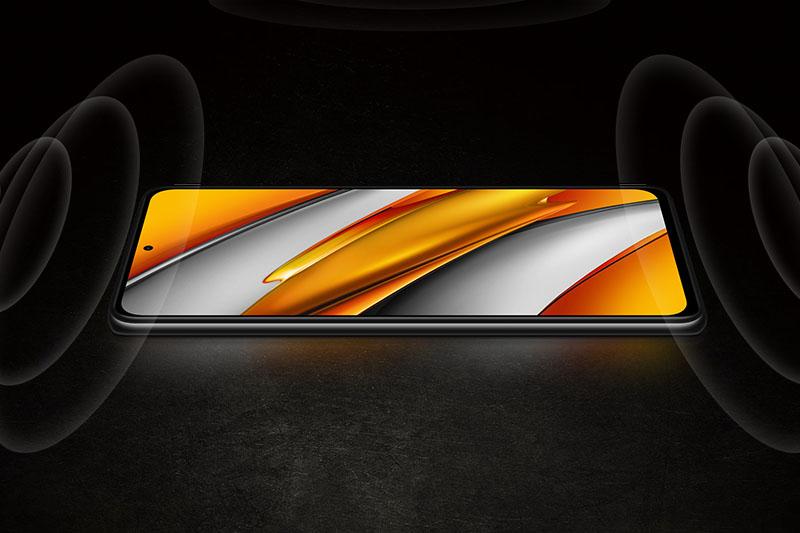 Xiaomi POCO F3   Chất âm đẳng cấp như ở rạp chiếu đến từ hệ thống loa kép