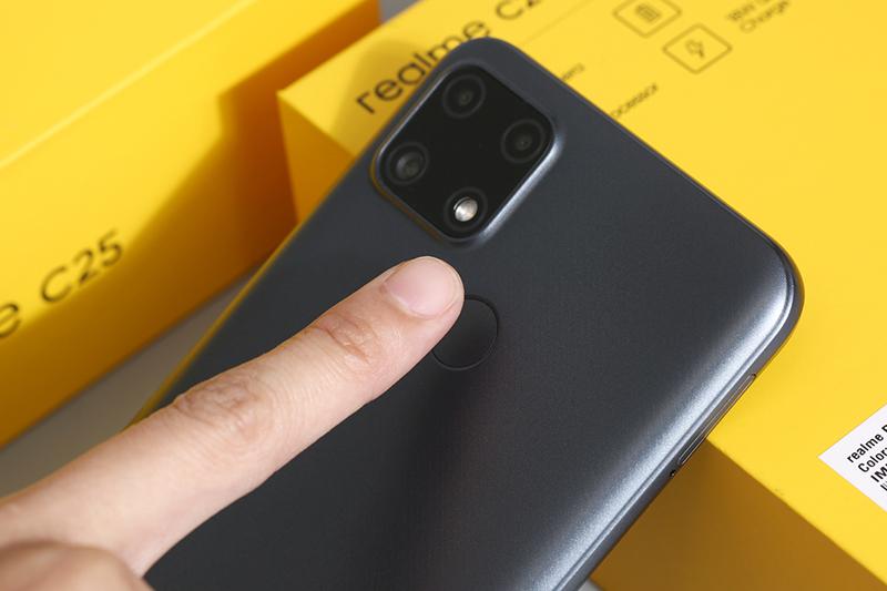 Điện thoại Realme C25 | Cảm biến vân tay