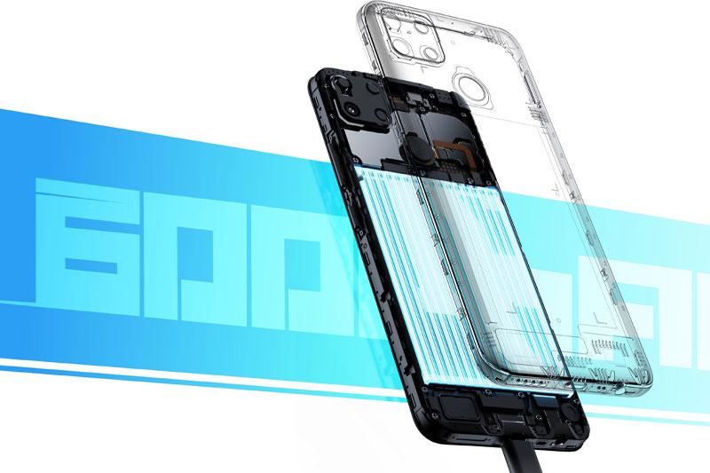 Điện thoại Realme C25 | Dung lượng pin khủng 6000 mAh