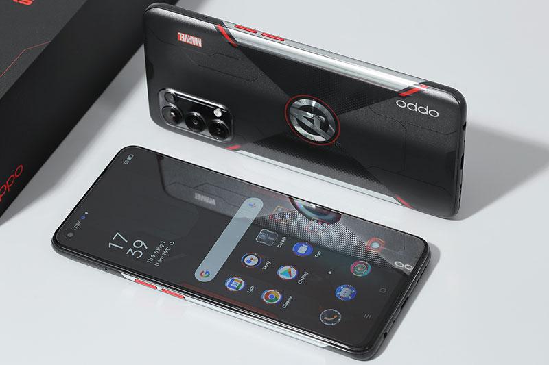 Điện thoại OPPO Reno5 Marvel | Thiết kế hầm hố, ấn tượng