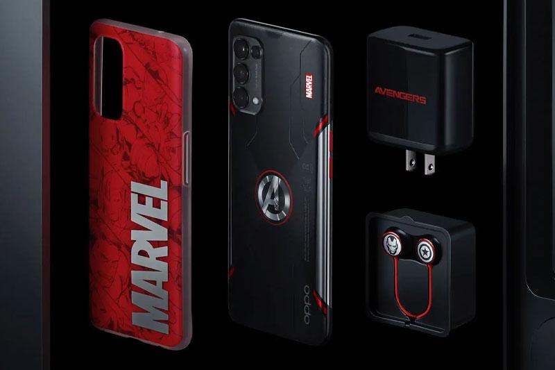 Điện thoại OPPO Reno5 Marvel | Bộ phụ kiện đậm chất Marvel