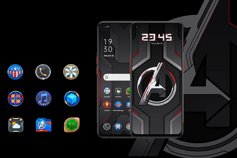 Điện thoại OPPO Reno5 Marvel | Giao diện màn hình ấn tượng