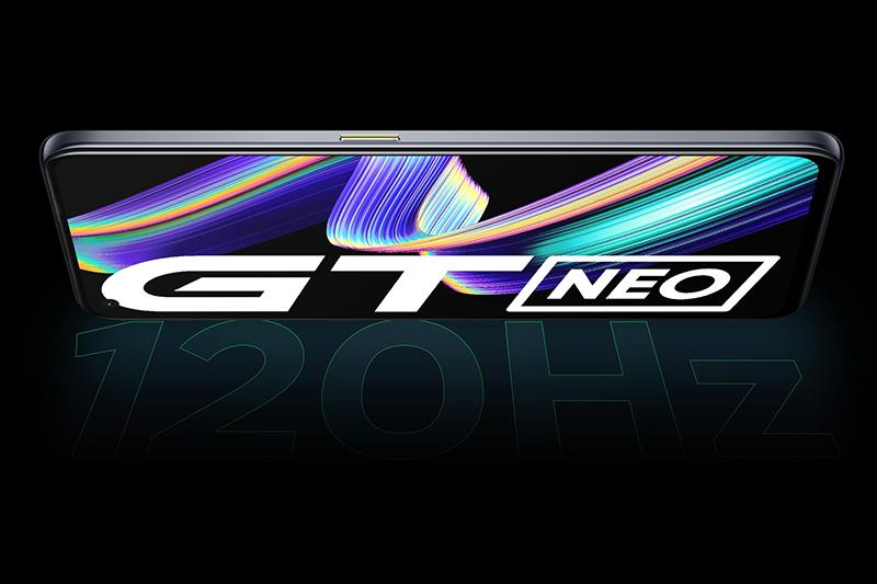 Realme GT Neo | Màn hình hỗ trợ tốc độ làm tươi 120 Hz kết hợp với độ cảm ứng 360 Hz