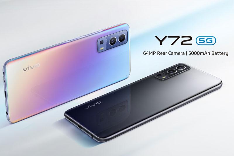 Điện thoại Vivo Y72 5G | Thiết kế sang trọng, màn hình giải trí sắc nét