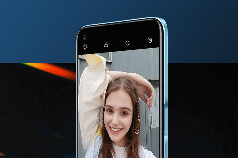 Realme 8 5G | Camera selfie 16 MP với tính năng chụp chân dung xóa phông và chế độ làm đẹp AI Beauty
