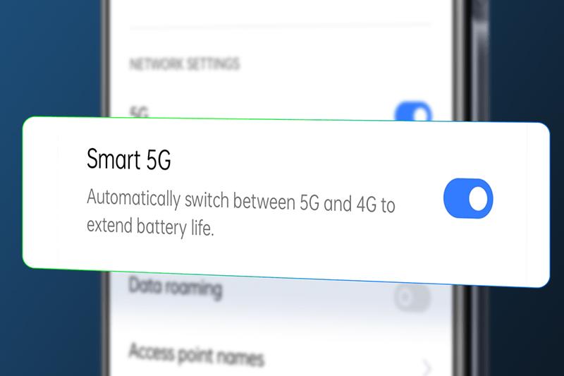 Realme 8 5G | Hỗ trợ công nghệ Smart 5G cho phép tự động chuyển đổi giữa 4G và 5G