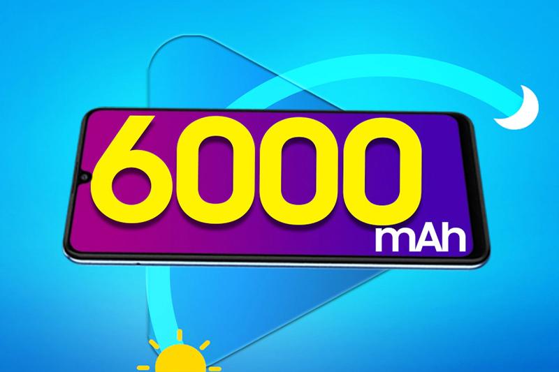 Dung lượng pin khủng 6000 mAh - Samsung Galaxy M32