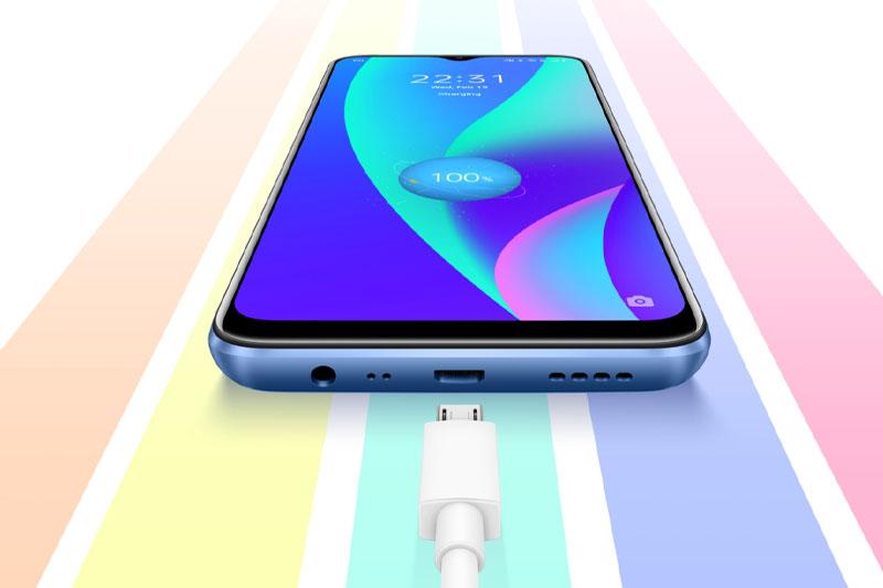 Realme C15 (2021) | Hỗ trợ sạc nhanh 18 W