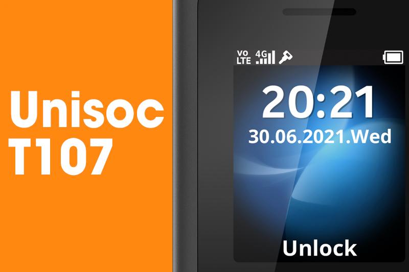 Hoạt động trên con chip Unisoc T107 - Nokia 105 4G