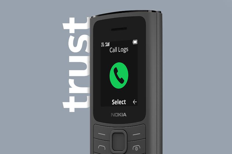 Điện thoại Nokia 110 4G | Thoải mái gọi điện liên lạc chất lượng cao
