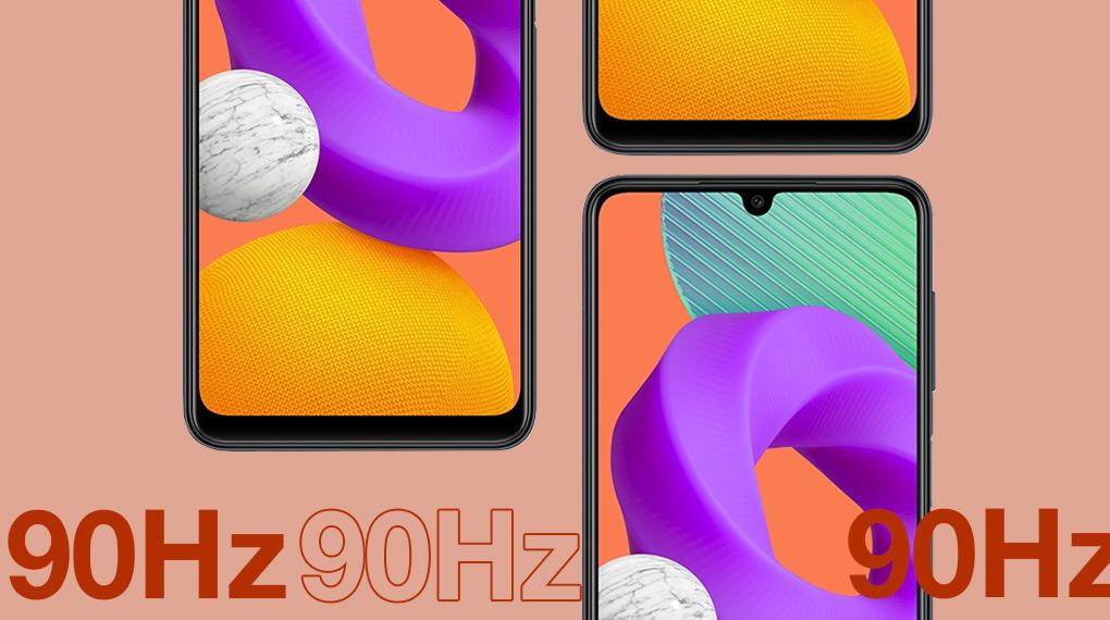 Tần số quét 90 Hz - Samsung Galaxy M22