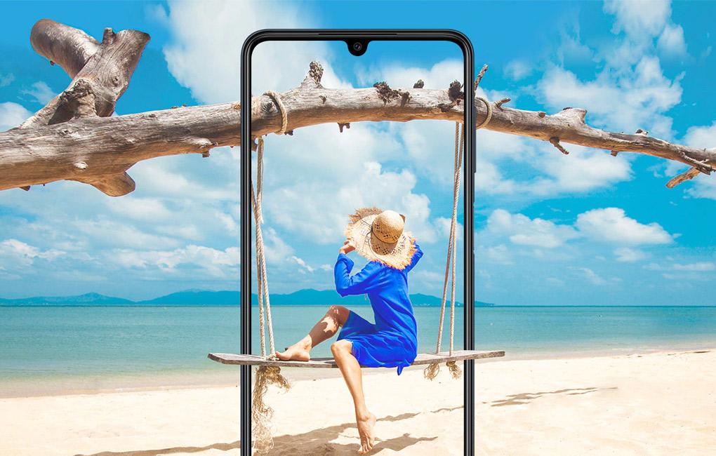 Trang bị màn hình Super AMOLED - Samsung Galaxy M22