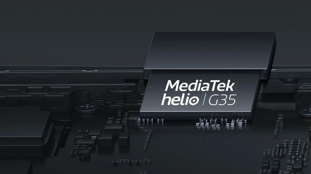 Sức mạnh đến từ con chip MediaTek Helio G35 - OPPO A16