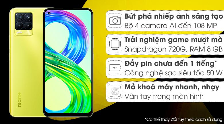 Realme 8 Pro Vàng Rực Rỡ